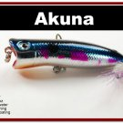 """[BP 147-89]2.2"""""""" Metallic Blue Shad Bass Trout Topwater Fishing Lure Popper"""