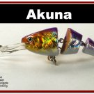 "[BP 20-82]3.5"""" Holographic Fuchsia Bass Fishing Lure Swimbait"