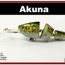 """[BP 20-85]3.5"""""""" Holographic Gold Bass Trout Fishing Lure Swimbait"""