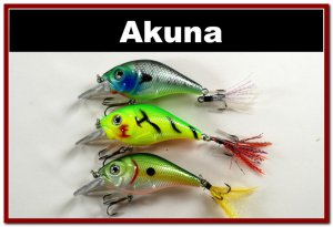 "[BP 3 FLA 131 A]Lot of 3 2.9"""" Bass Pike Trout Fishing Lure Bait Bait A"