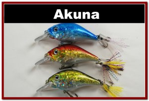 "[BP 3 FLA 131 C]Lot of 3 2.9"""" Bass Pike Trout Fishing Lure Bait Bait C"