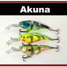 [BP 3 FLA 20 A]Lot of 3 Bass Trout Pike Fishing Lure Swimbait Tackle