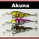 [BP 3 FLA 20 C]Lot of 3 Bass Trout Pike Fishing Lure Swimbait Tackle B