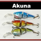 [BP 3 FLA 20 D]Lot of 3 Bass Trout Pike Fishing Lure Swimbait Tackle D