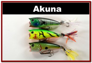 """[BP 3 FLA 48 A]Lot of 3 2.4""""""""  Bass Topwater Fishing Lure Popper Tackle"""