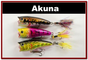 """[BP 3 FLA 48 C]Lot of 3 2.4""""""""  Bass Topwater Fishing Lure Popper Tackle"""
