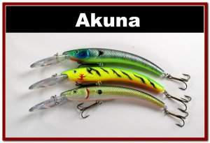 """[BP 3 FLA 82 A]Lot of 3 5.9"""""""" Deep Diving Pike Bass Fishing Lure Tackle"""