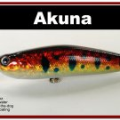 """[BP 45-81]4"""""""" Holographic Red Leopard Bass Pike Topwater Fishing Lure"""