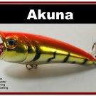 """[BP 48-78]2.4"""""""" Tiger Orange Bass Topwater Fishing Popper"""