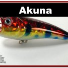 "[BP 48-81]2.4"""" Holographic Red Leopard Bass Topwater Fishing Popper"