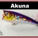 "[BP 48-82]2.4"""" Holographic Fuchsia Bass Topwater Fishing Popper"