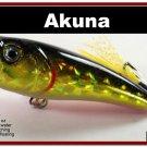 "[BP 48-86]2.4"""" Golden Shiner Bass Topwater Fishing Lure Popper"