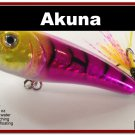 """[BP 48-87]2"""""""" Holographic Purple Bass Topwater Fishing Lure Popper"""