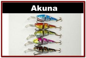 [BP 5 FLA 20 B]Lot of 5 Bass Trout Pike Fishing Lure Swimbait Tackle B
