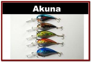 "[BP 5 FLA 55]Lot of 5 Deep Diver 4.3"""" Bass Pike Fishing Lure Tackle"