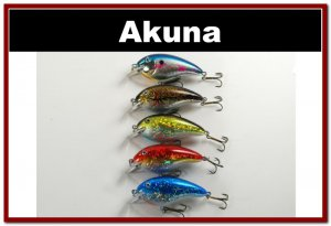 """[BP 5 FLA 56]Lot of 5 3.1"""""""" Bass Pike Trout FAT Fishing Lure Tackle"""