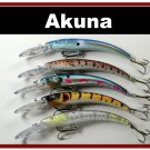 "[BP 5 FLA 82]Lot of 5 5.9"""" Deep Diving Pike Bass Fishing Lure Tackle"