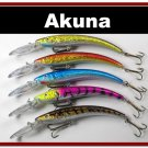 "[BP 5 FLA 82 B]Lot of 5 5.9"""" Deep Diving Pike Bass Fishing Lure Bait B"