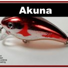 "[BP 52-79]2.2"""" Metallic Burgundy Shad Bass Pike Trout Fishing Lure Crankbait"