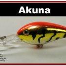 "[BP 55-78]4.3"""" Tiger Orange Bass Pike Trout Fishing Lure Crankbait"