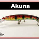 "[BP 82-81]5.9"""" Holographic Red Leopard Deep Diving Pike Bass Fishing Lure"