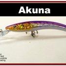 "[BP 82-82]5.9"""" Holographic Fuchsia Deep Diving Pike Bass Fishing Lure"