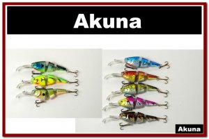 [BP 8PK 5FLA20 B and 3FLA20A]8 Pack Holographic Bass Trout  Fishing Lure Swimbait A