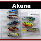 """[BP 8PK 5FLA48 and 3FLA48A]8 Pack 2.4""""""""  Bass Topwater Fishing Lure Popper Tackle A"""