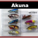 "[BP 8PK 5FLA48 and 3FLA48C]8 2.4""""  Holographic Bass Topwater Fishing Lure Popper C"