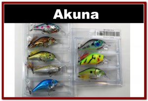 """[BP 8PK 5LKA31 and 3LKA31A]8 Pack 2.9"""""""" Bass Pike Trout Fishing Lure Bait Crankbait"""