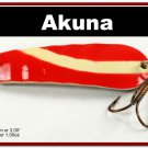 "[SP  02-20]3"""" White Stripe Bass Pike Trout Casting Spoon Fishing Lure"