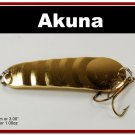 "[SP  02-23]3"""" Gold Bass Pike Trout Casting Spoon Fishing Lure"