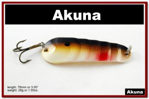 """[SP  02-25]3"""""""" Brown Shad Bass Pike Casting Spoon Fishing Lure Bait"""
