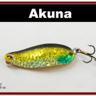 """[SP  68-85]2.4""""""""  Holographic Gold Hammer Spoon Fishing Lure Tackle"""