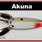 "[SP 10-27-2]2.2"""" Mini Chartreuse Shad Bass Pike Trout Casting Spoon Fishing Lure"
