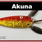 """[SP 10-84-2]2.2"""""""" Mini Holographic Bleeding Gold Bass Pike Trout Casting Spoon Fishing Lure"""