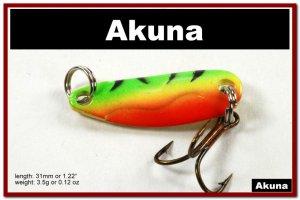 "[SP 39-21-2]1.2"""" Mini Firetiger Bass Pike Trout Casting Spoon Fishing Lure"