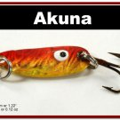 "[SP 39-84-2]1.2"""" Mini Holographic Bleeding Gold Bass Pike Trout Casting Spoon Fishing Lure"