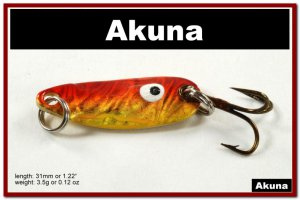 """[SP 39-84-2]1.2"""""""" Mini Holographic Bleeding Gold Bass Pike Trout Casting Spoon Fishing Lure"""