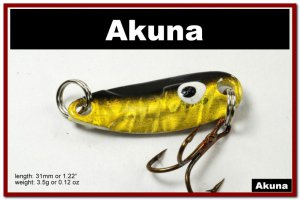 """[SP 39-85-2]1.2"""""""" Mini Holographic Black Gold Bass Pike Trout Casting Spoon Fishing Lure"""