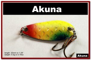 """[SP 42-34-2]1.3"""""""" Mini Holographic Chartreuse Bass Pike Trout Casting Spoon Fishing Lure"""