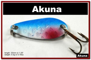 """[SP 42-83-2]1.3"""""""" Mini Holographic Neon Shad Bass Pike Trout Casting Spoon Fishing Lure"""
