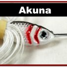 [SPU 04]3/8 oz 10.6 grams Elite White Silver Spinnerbait Fishing Lure