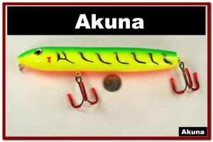 "[WML 98]8"""" 20cm Firetiger Musky Fishing Stickbait for Northern Muskie Pike"