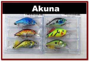 """[BP 6PK 3LKA31A and 3LKA31C]6 Pack 2.9"""""""" Bass Pike Trout Fishing Lure Bait Tackle C"""