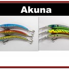 """[BP 6PK 3FLA82A and 3FLA82D]6 Holographic 5.9"""""""" Deep Diving Pike Bass Fishing Lure D"""