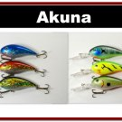 "[BP 6PK 3FLA55A and 3FLA55C]6 Holographic Deep Diver 4.3"""" Bass Pike Fishing Lure C"