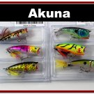 "[BP 6PK 3FLA48A and 3FLA48C]6 Pack 2.4""""  Bass Topwater Fishing Lure Popper Tackle C"
