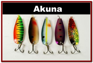 [SP 5 FLC 015 A]Lot of 5 Holographic Trolling Spoon Fishing Lure Tackle