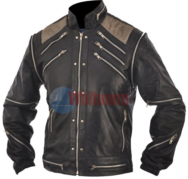 Michael Jackson Beat It Vintage Black Faux Leather Jacket